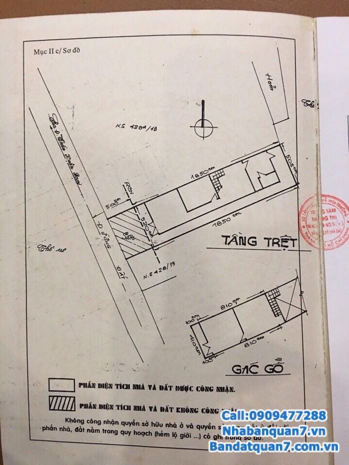 Bán nhà hẻm 1041 Trần Xuân Soạn, hẻm xe hơi, giá 4.4 tỷ, LH 0909477288
