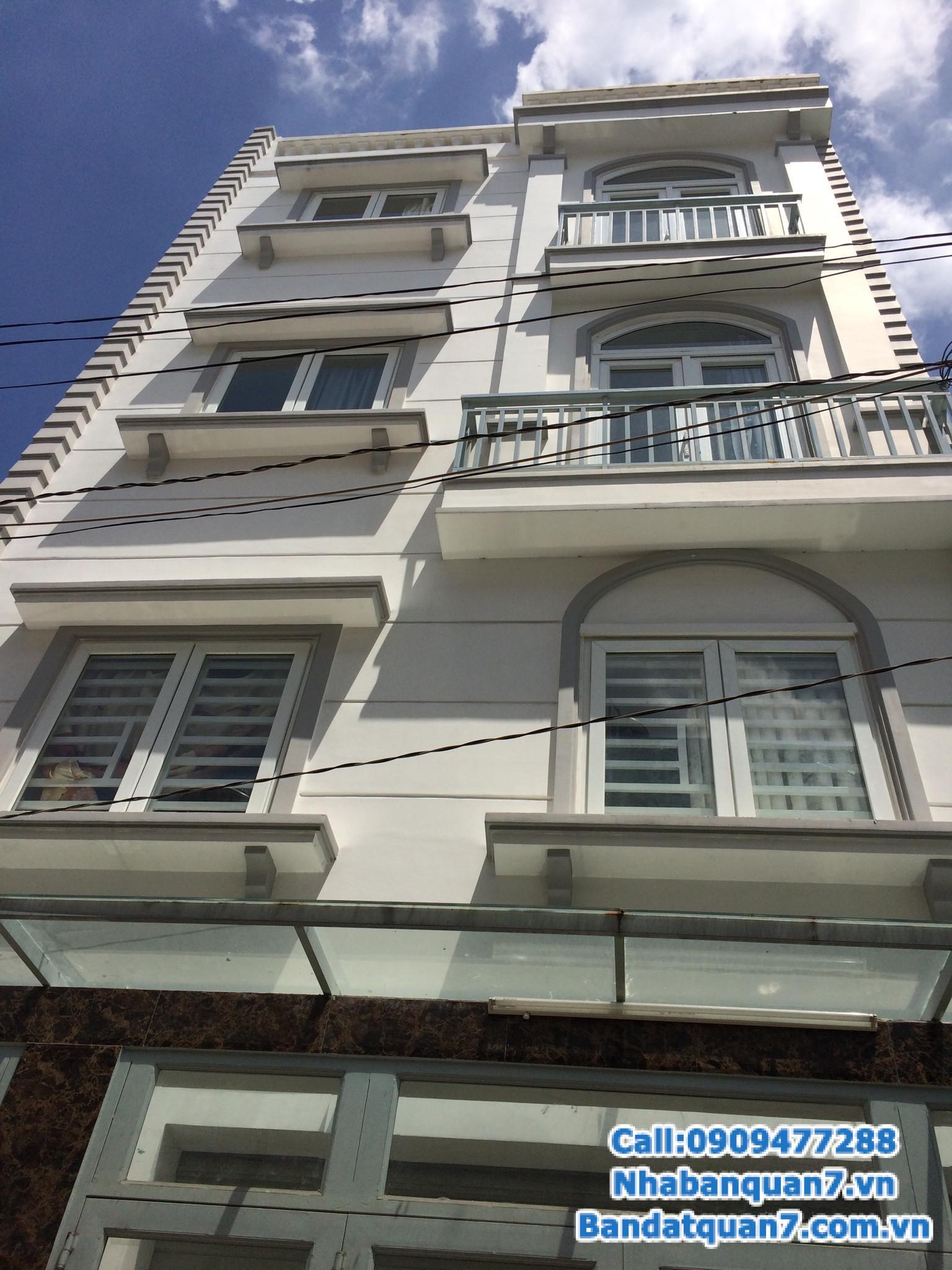 Bán nhà phường Phú Mỹ quận 7, diện tích 4x18m, giá 5 tỷ, LH 0909477288
