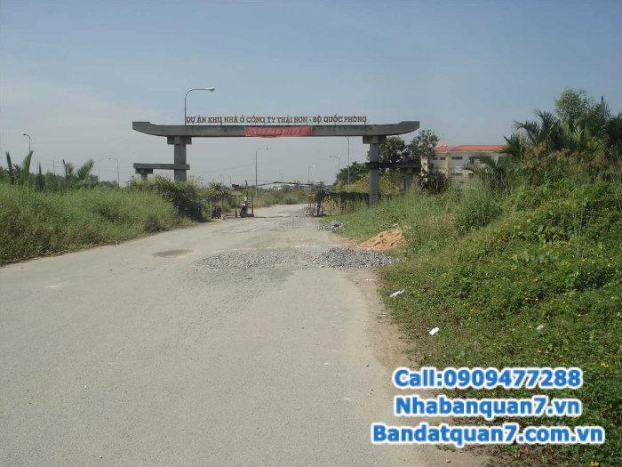Bán gấp đất nên dự án Thái Sơn 1 đường Nguyễn Hưu Thọ xã Phước Kiểng Nhà bè, 10x25m, giá 13tr/m2