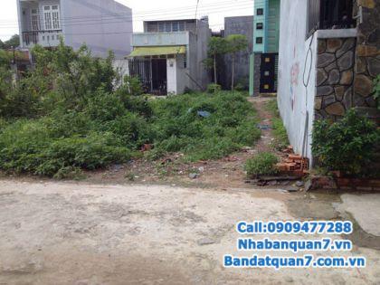 Bán lô đất 14x18m góc 2 mặt tiền đường 8m khu dân cư Kiều Đàm, quận 7, hướng Đông và Nam, giá 12 tỷ