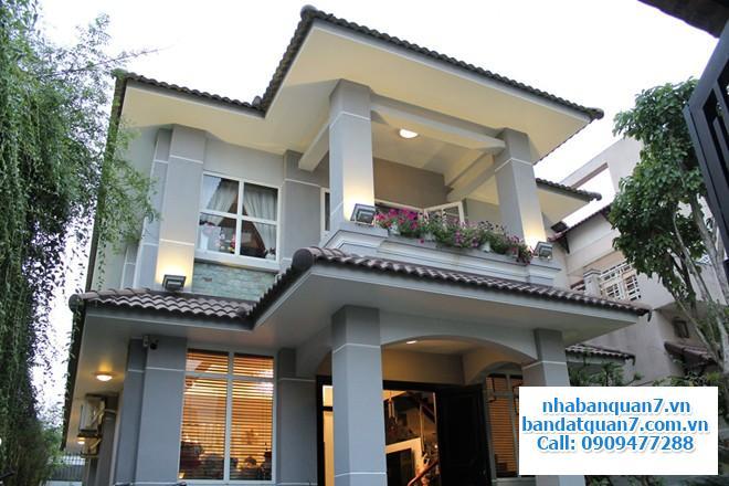 Cho thuê nhà biệt thự khu Kiều Đàm Quận 7 giáp Khu Him Lam Kênh Tẻ, gần Lotte Mart Q7, nhà đẹp, sân vườn rộng rãi giá 45 tr/tháng.