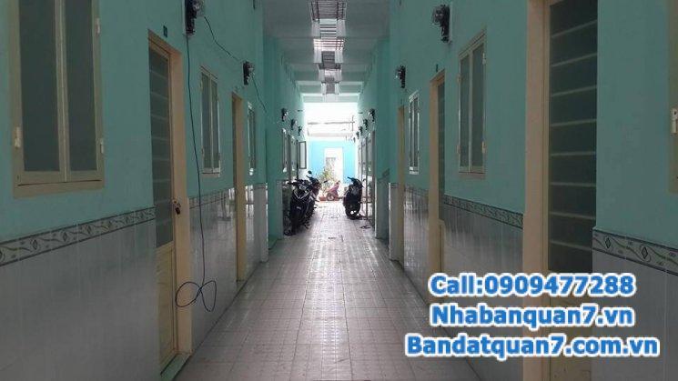 Cần bán 2 dãy nhà trọ mặt tiền Nguyễn Thị Thập, DT 10x50m, đang thu nhập 100tr/th, hướng Nam