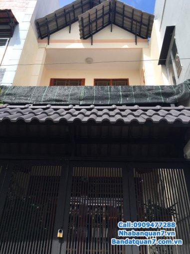 Bán nhà đẹp mới xây 1 trệt, 1 lầu, 2WC, hẻm 62 Lâm Văn Bền, Tân Quy, Quận 7