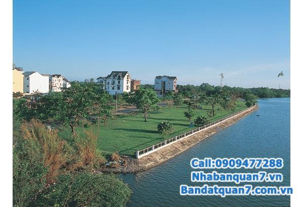 Bán lô đất biệt thự trong Khu dân cư Sadeco ven sông, quận 7.