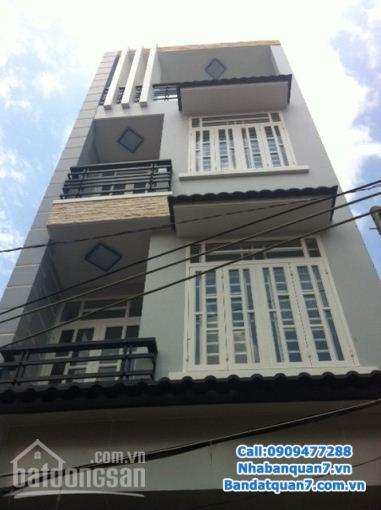 Bán nhà mặt tiền đường Tân Mỹ, DT: 5x20m, 1 trệt 1 lửng, 3 lầu