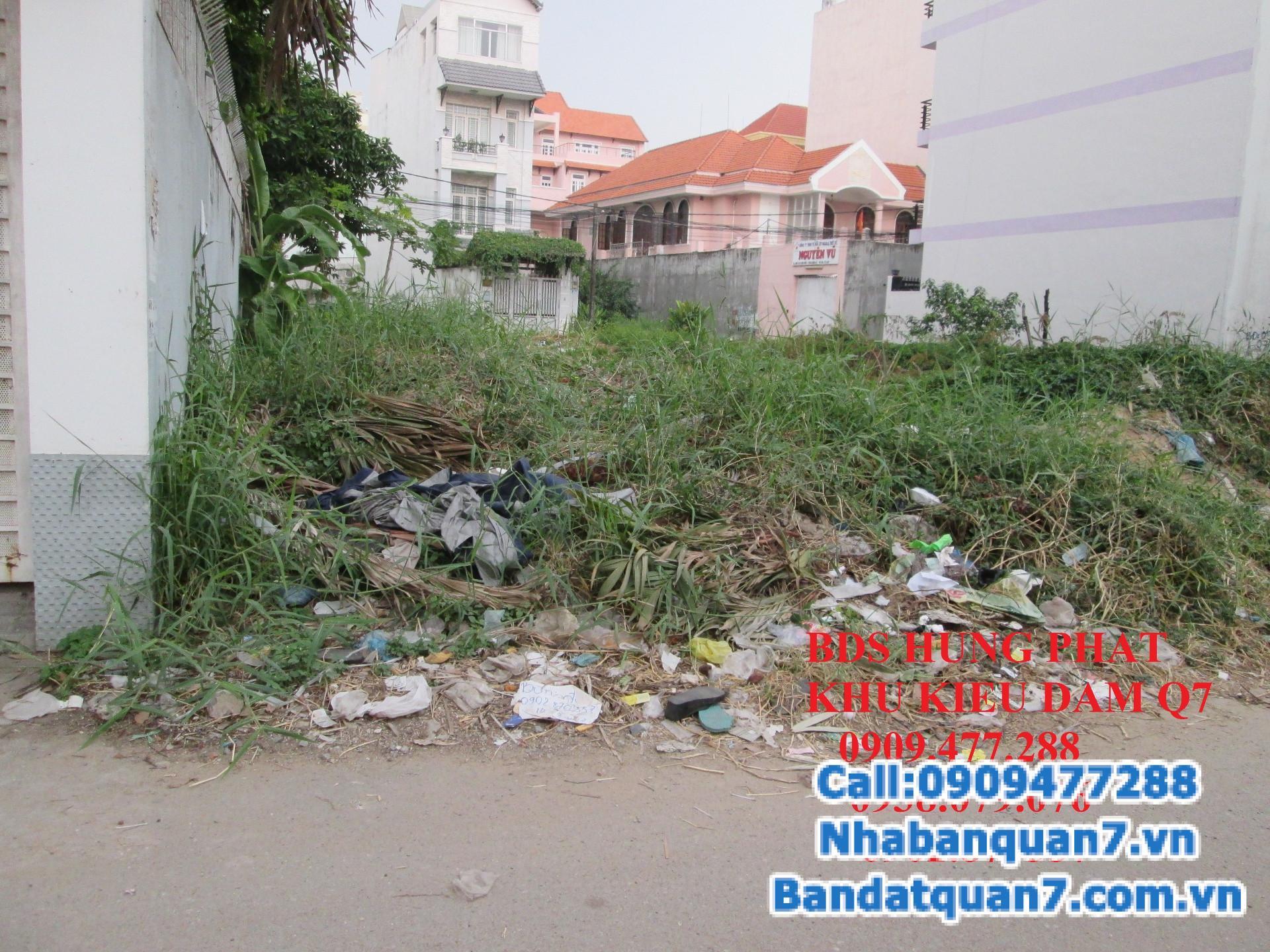 Bán gấp lô đất nền căn góc 2 măt tiền trong khu dân cư khu Kiều Đàm, P. Tân Hưng, Quận7