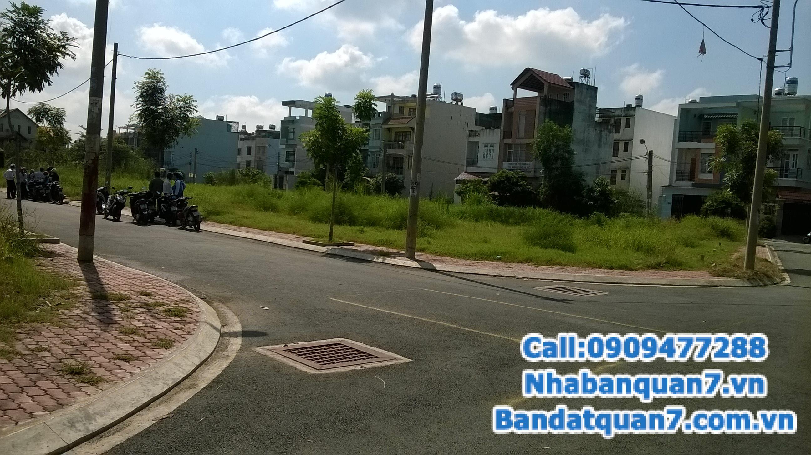 Bán nhiều lô đất khu dân cư Kiều Đàm P Tân Hưng, quận 7, DT: 5.4x15m, giá 3.6 tỷ TL