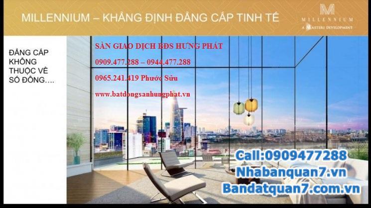 Bán căn hộ Millennium 2 PN giá gốc chủ đầu tư, Lh ngay để được vị trí đẹp nhất 0918.089.169.