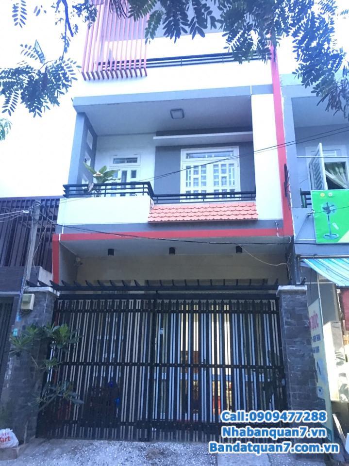Bán nhà đường số Tân Quy, 1 trệt 1 lầu, giá 5,65 tỷ, LH 0909.477.288