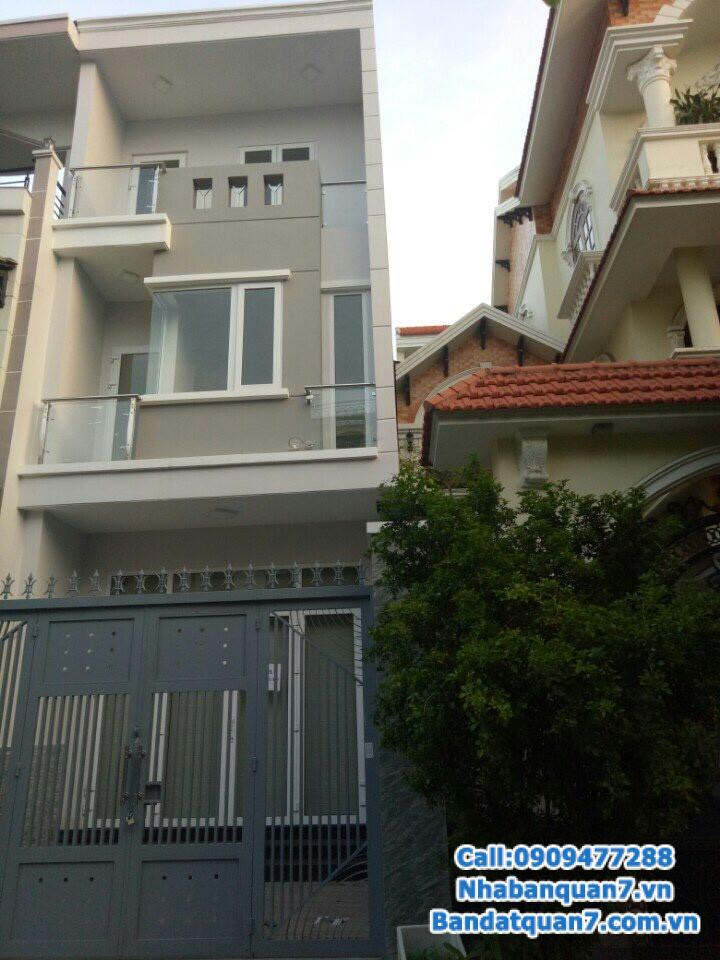 Cần bán gấp nhà đường số Tân Quy, dt 4x20m, sổ hồng, LH 0909.477.288