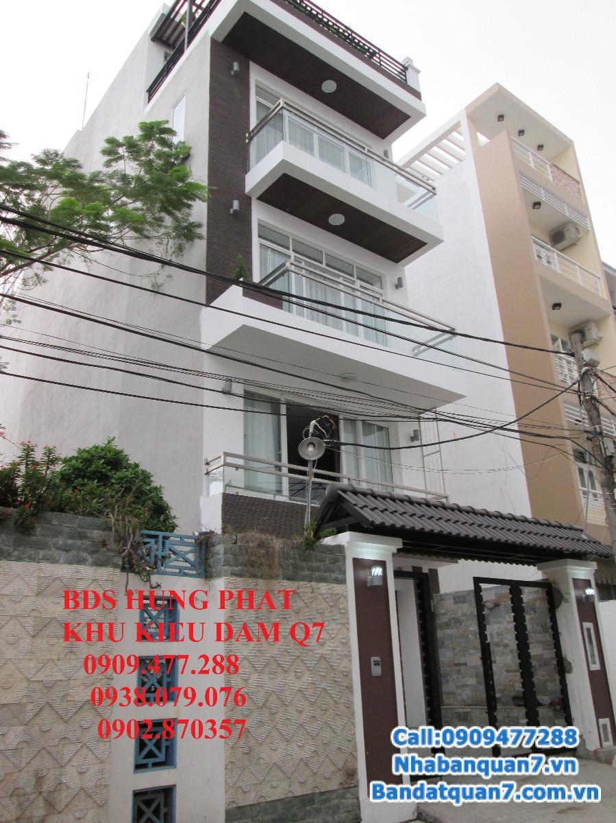 Bán gấp nhà đẹp dạng Villa, KDC Kiều Đàm, Tân Hưng, Quận 7