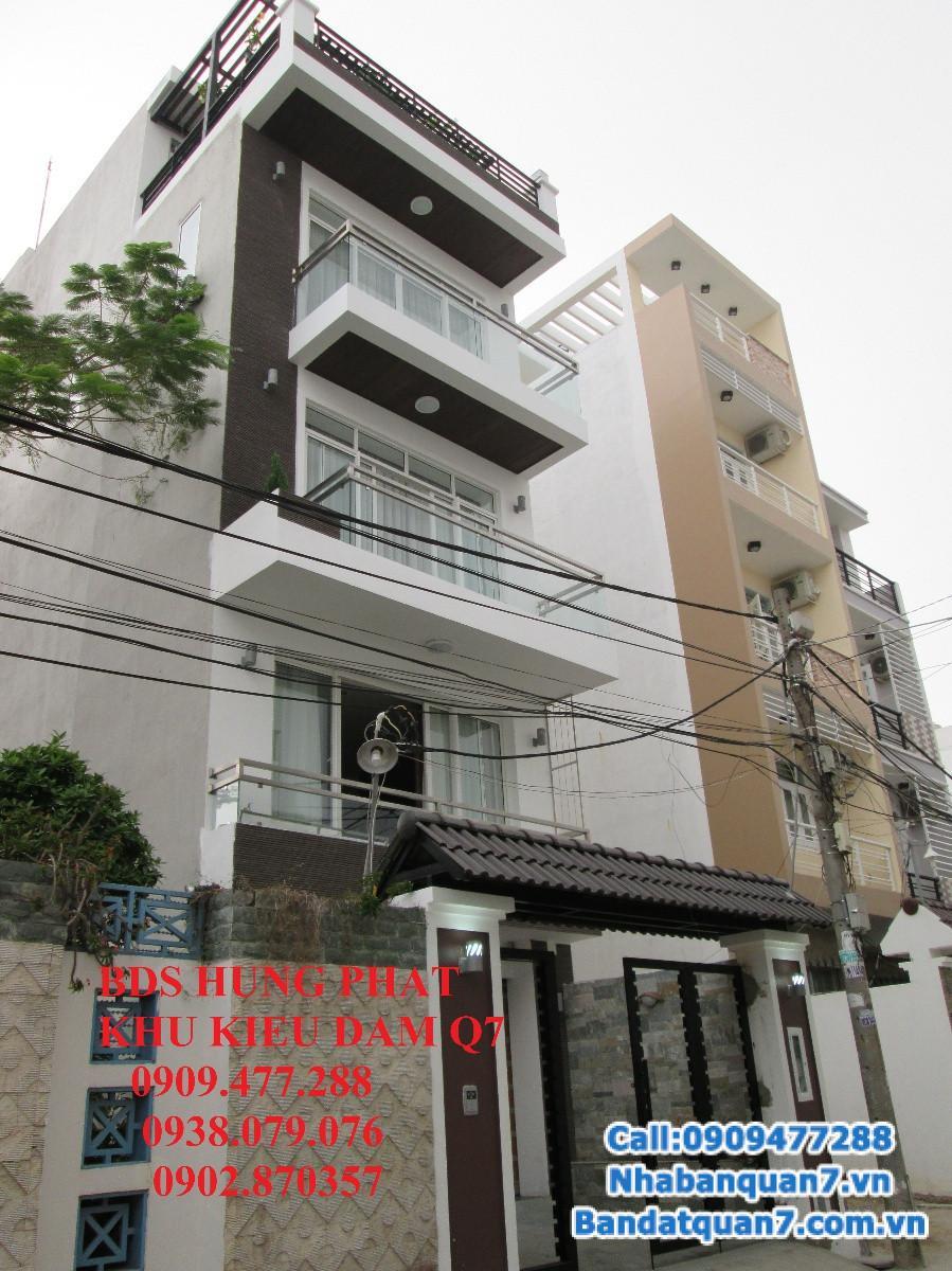Bán gấp biệt thự Kiều Đàm Quận 7 gần Lotte 11x16m, góc 2 MT, 1 trệt 2 lầu, giá 8,8 tỷ TL