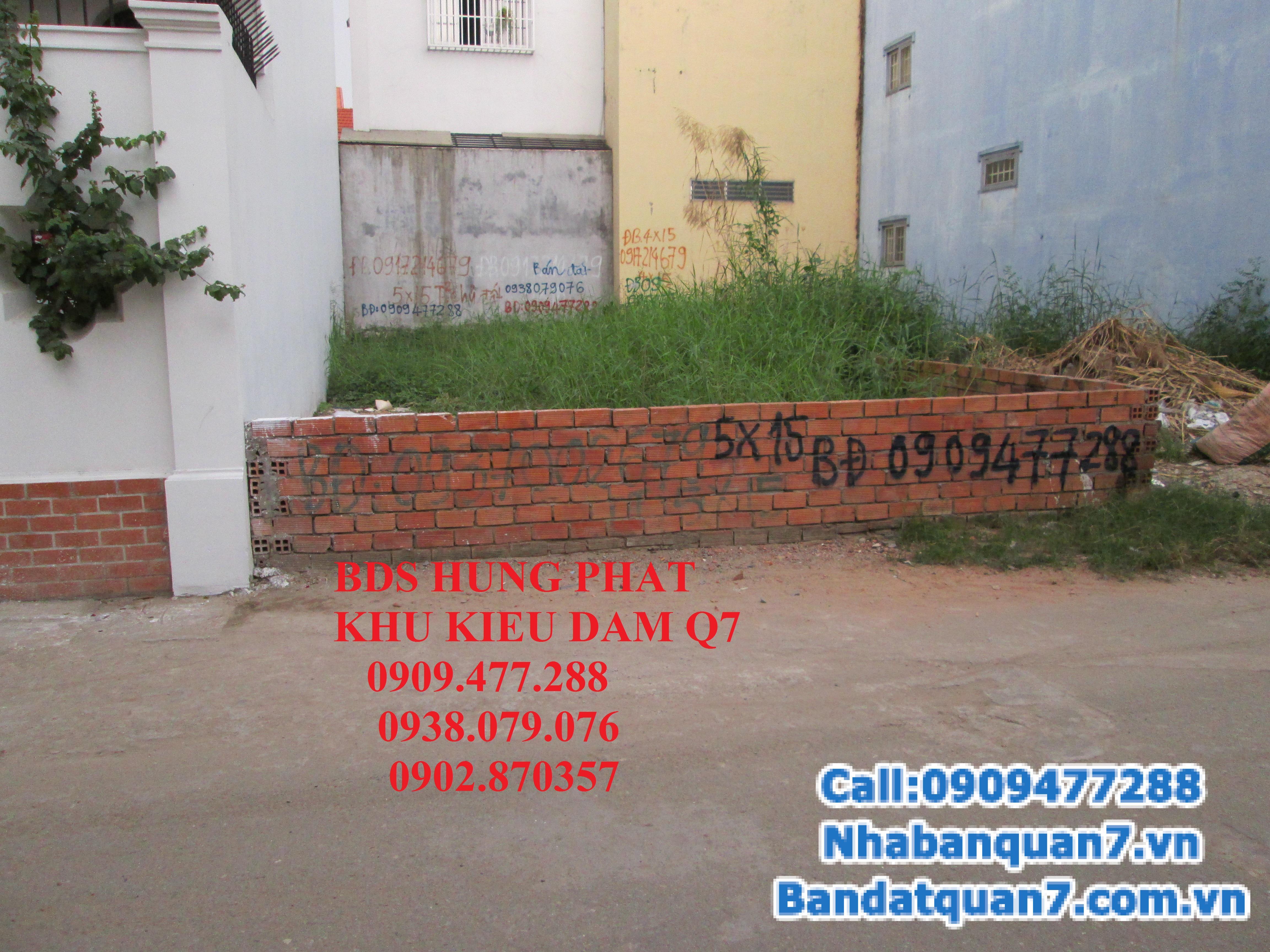 Cần bán gấp đất nhà nát MT hẻm 793 Kiều Đàm, P. Tân Hưng, Quận 7