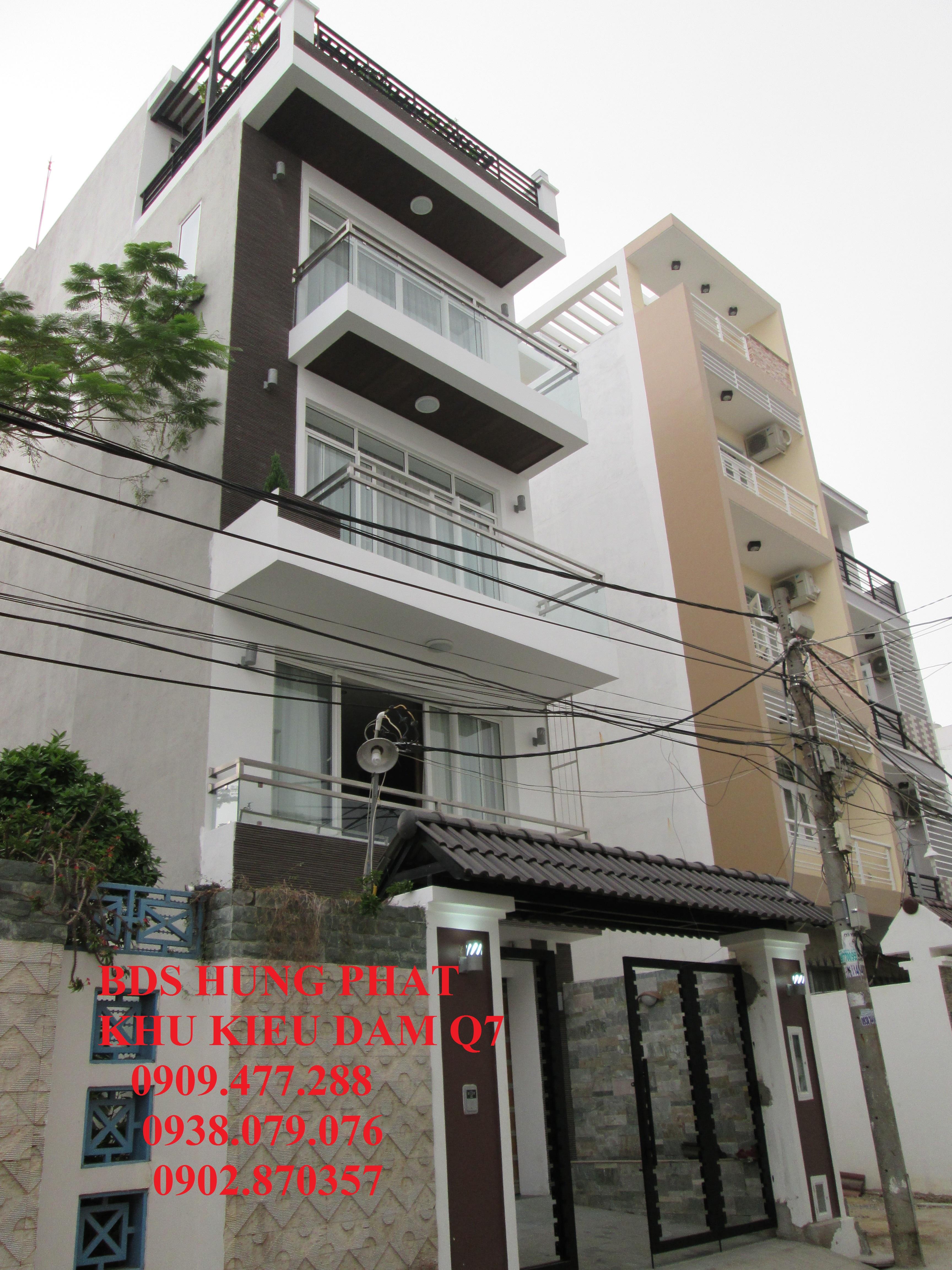 Bán đất mặt tiền đường KDC Kiều Đàm, P. Tân Hưng, quận 7. DT: 5x19.5m. Giá 47tr/m2 TL, đất thổ cư, vị trí đẹp.