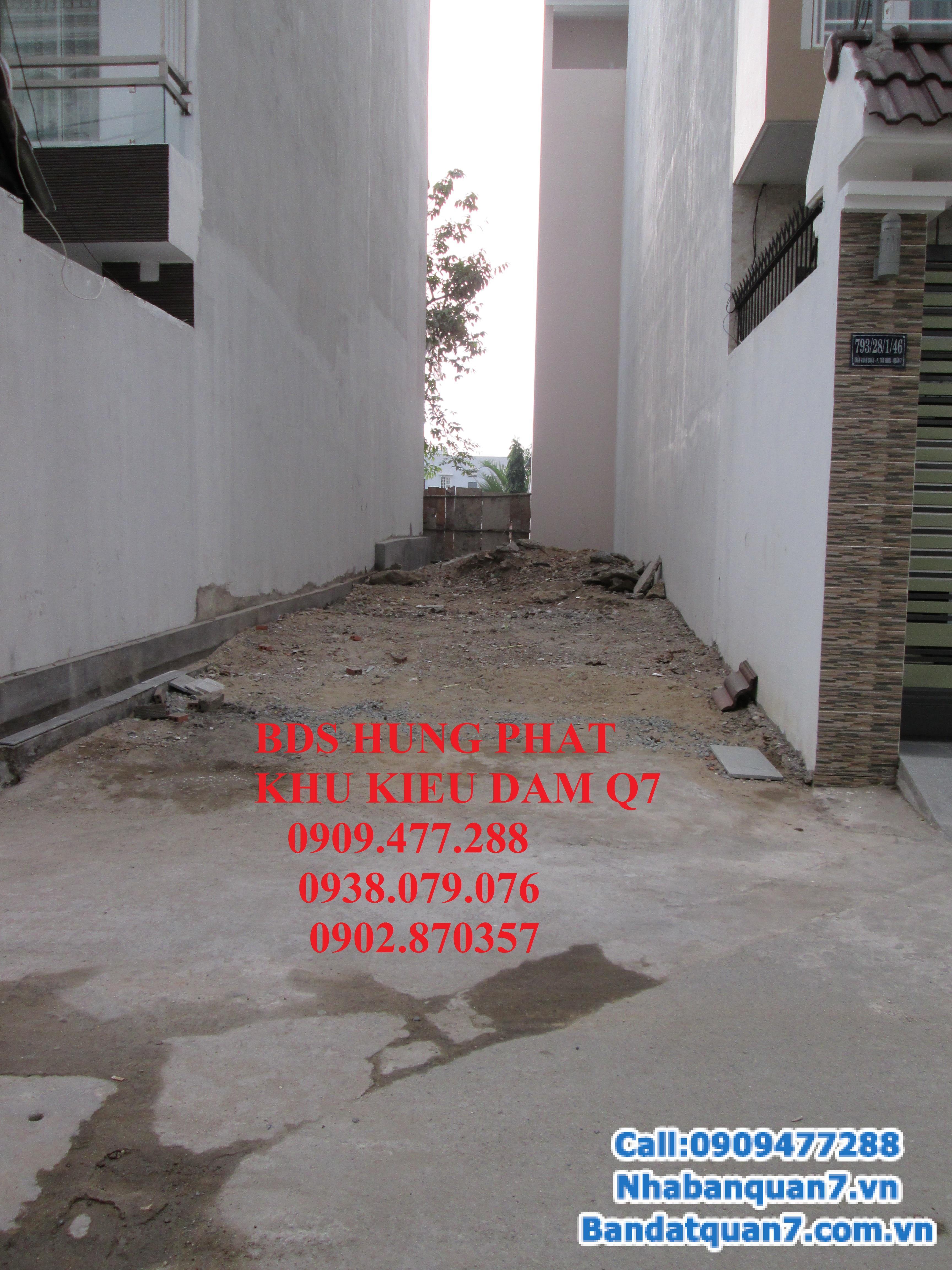 Bán đất đường số tân quy, dt 6x20m, giá 75 triệu/m2. Lh 0909477288