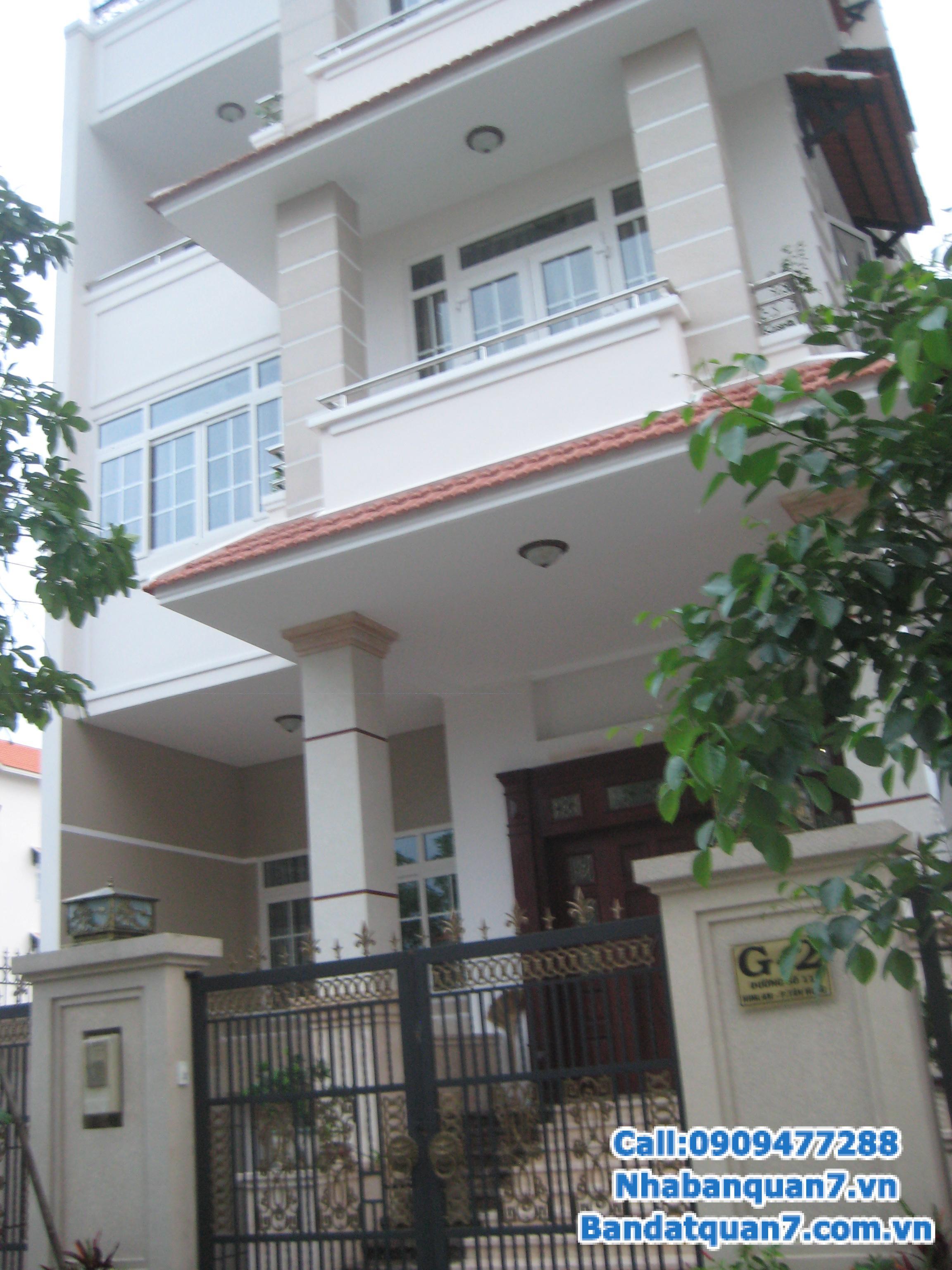 Bán nhà phố khu Him Lam Kênh Tẻ mặt tiền đường D1 (35m) 1 hầm, 1 trệt, 4,5 lầu 12 tỷ