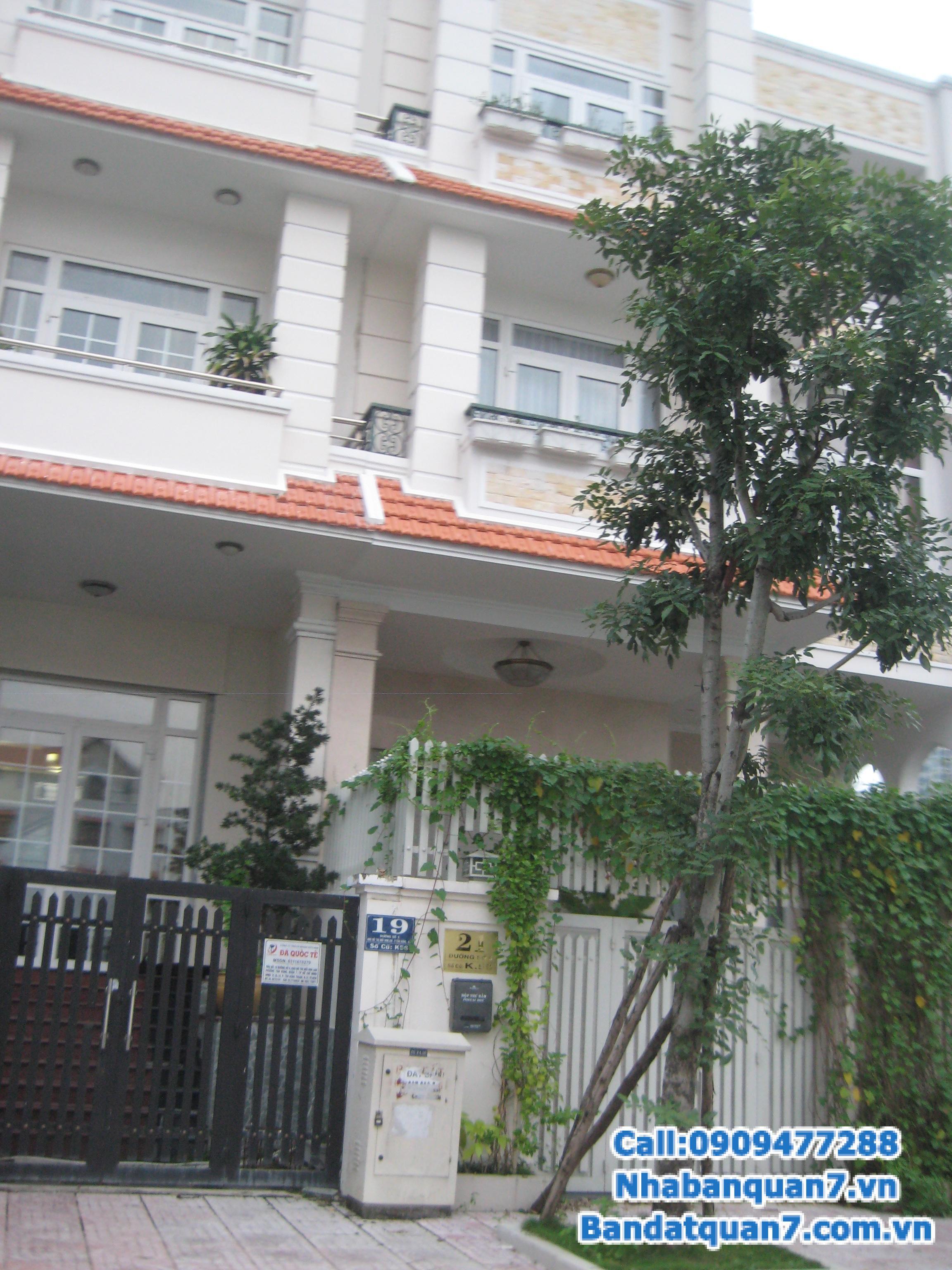 Bán nhà mặt tiền đường số khu dân cư Tân Quy Đông, phường tân phong, Q.7