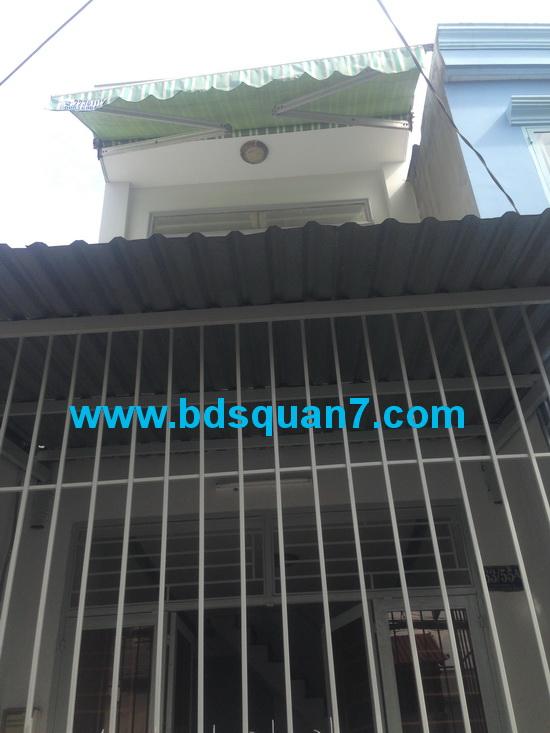 Bán gấp nhà 1 lầu quận 7 đường Trần Văn Khánh F. Tân Thuận Đông