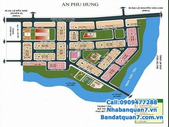 Bán đất 7x20 An Phú Hưng, 7x20m, 59 triệu/m2. LH 0909477288