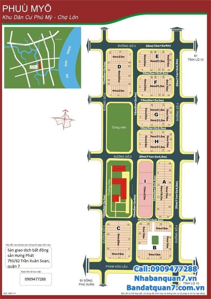 Bán đất F13 Phú Mỹ Chợ Lớn quận 7, diện tích 4x21.5m, giá 44 triệu/m2, LH 0909477288 để xem đất