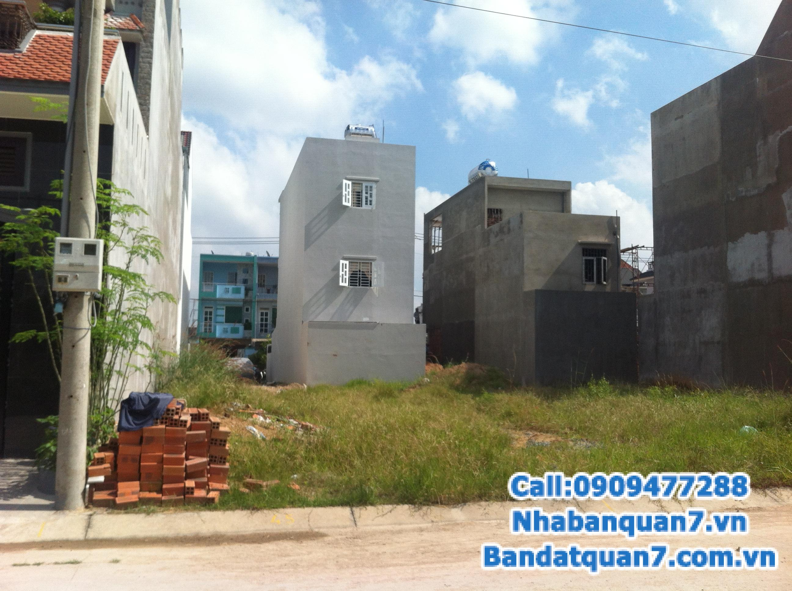 Bán đất đường số Tân Quy, Quận 7 giá tốt, diện tích 4x20, 5x18, 6x18, 10x20m