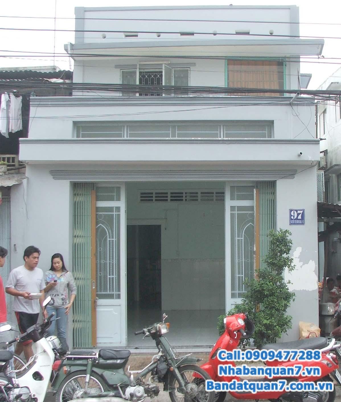 Bán nhà mặt tiền đường dự án Tân An Huy 1 ha, P. Tân Phong, Quận 7