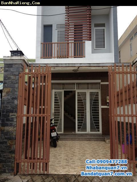 Bán nhà đường số 25, phường Tân Quy, Quận 7  DT 4 x 16m, 1 trệt + 1,5 lầu, giá 3,75  tỷ