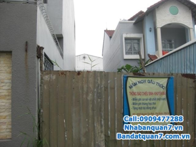 Bán đất khu tái định cư Him Lam Kênh Tẻ, diện tích 4,5m x 16.5m