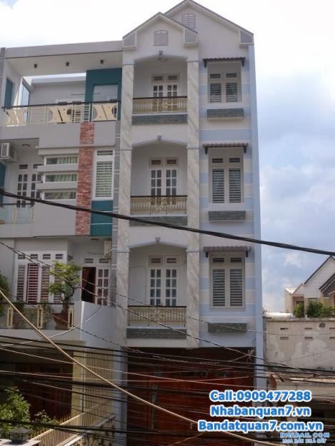 Bán nhà phố Quận 7, mặt tiền đường số 41, P. Tân Quy, Quận 7