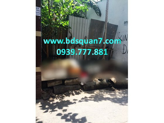 Bán đất tiện xây mới hẽm 5m đường Huỳnh Tấn Phát F. Bình Thuận Q7