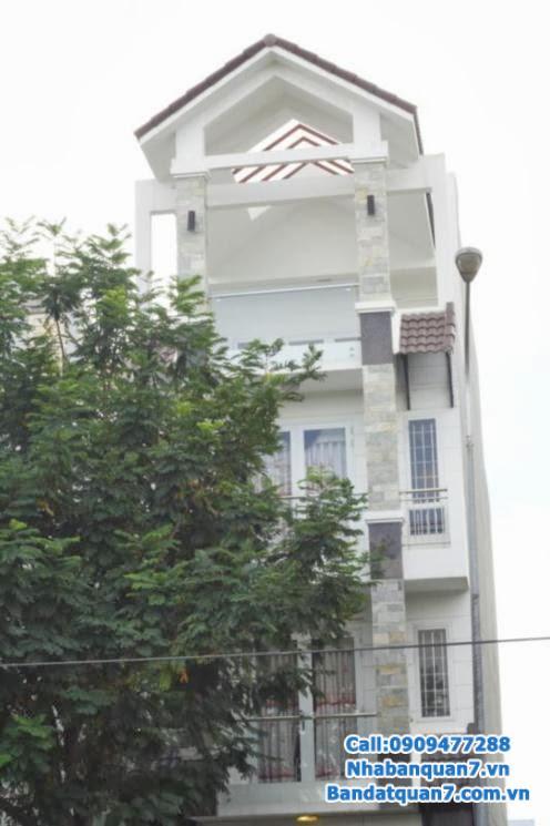 Bán nhà khu Trung Sơn Bình Chánh nhà đường số 5, 5x20m, 3 lầu hướng tây giá 6.8 tỷ