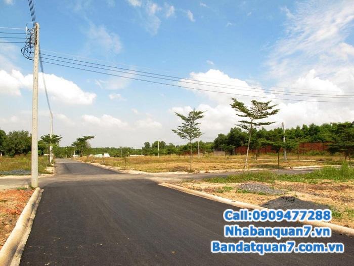 Bán đất Phú Xuân, trung tâm thị trấn Nhà Bè, KDC mới, LH 0909.477.288