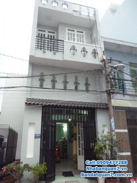 bán gấp nhà phố khu dân cư cao cấp Tân Quy Đông - An Phú Hưng. DT: 6x15, nhà xây 1 trệt 3 lầu