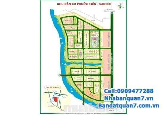 Bán đất H5 Sadeco Phước Kiển Nhà Bè, 5x19m, giá 43 triệu/m2, LH 0909477288