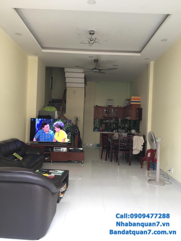 Bán nhà đường số Tân Quy, dt 4,5x12m, giá 5,7 tỷ, LH 0909.477.288
