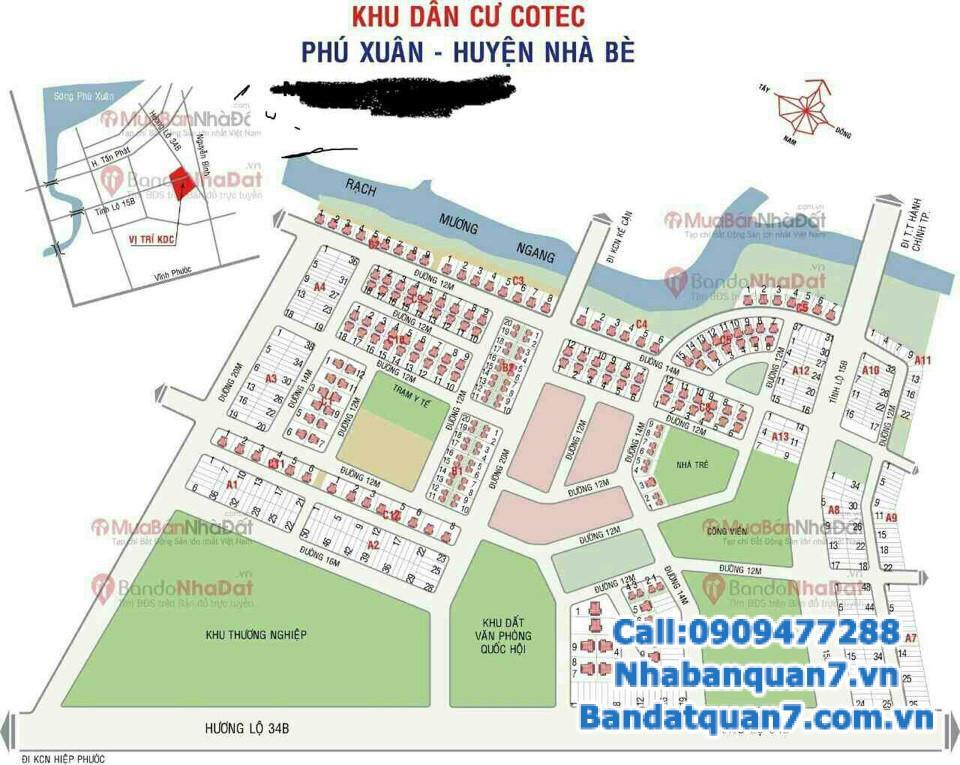 Bán đất nền biệt thự Cotec, dt 15x30m, giá rẻ để đầu tư, LH 0909.477.288