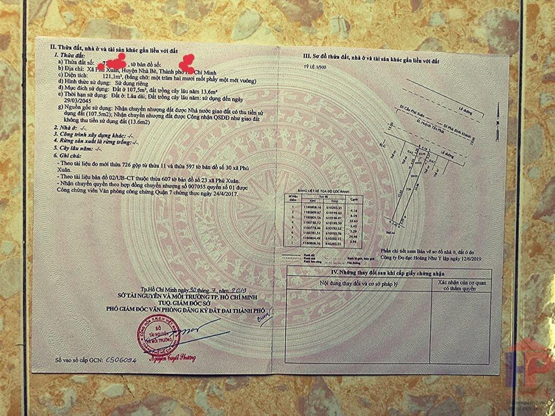 Bán đất mặt tiền Huỳnh Tấn Phát Nhà Bè, DT 4x30m, giá 6.7 tỷ