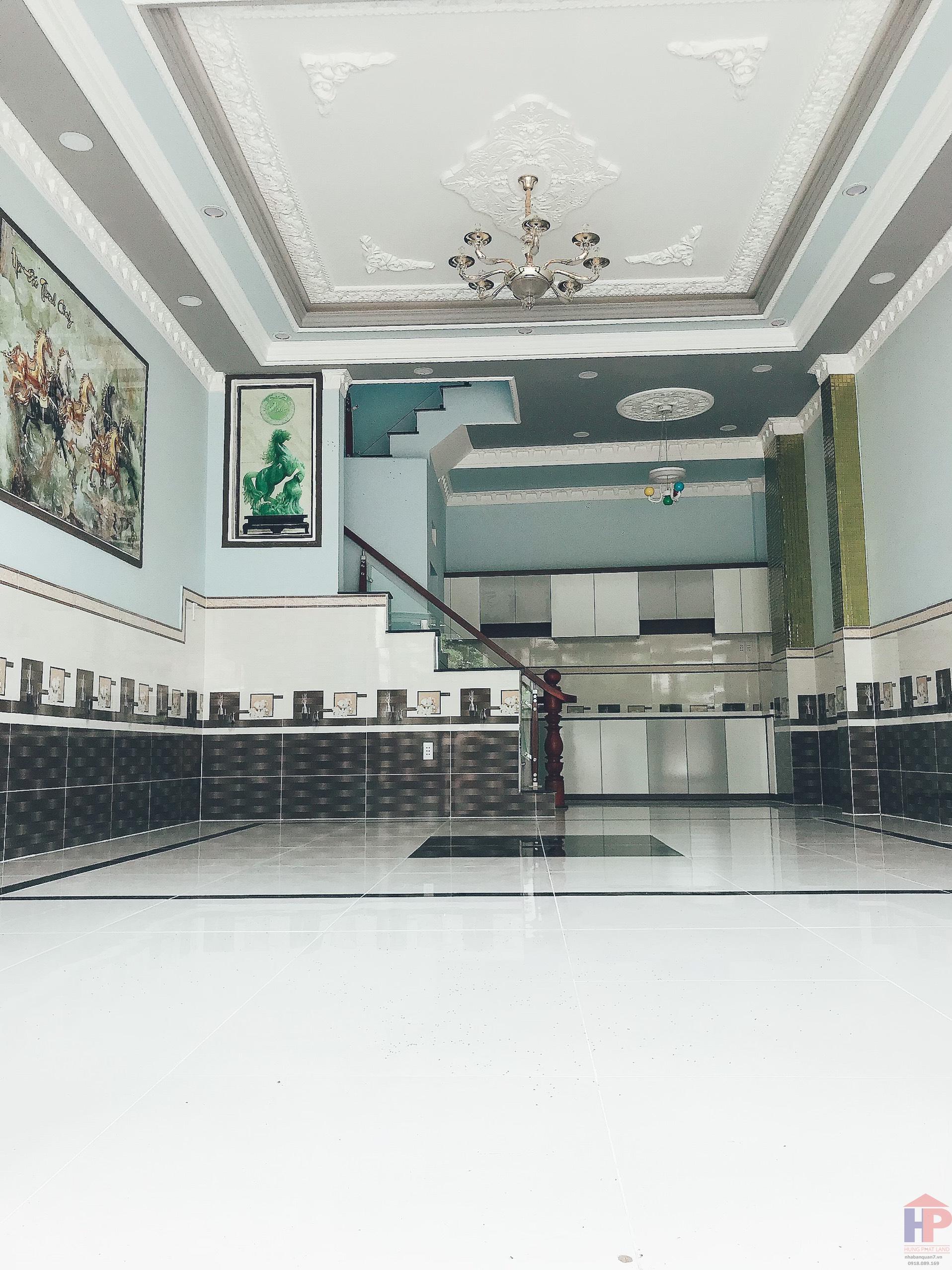 Bán nhà hẻm 1806 Huỳnh Tấn Phát Nhà Bè, 1 trệt – 2 lầu, DT 5x10m, giá 4.45 tỷ