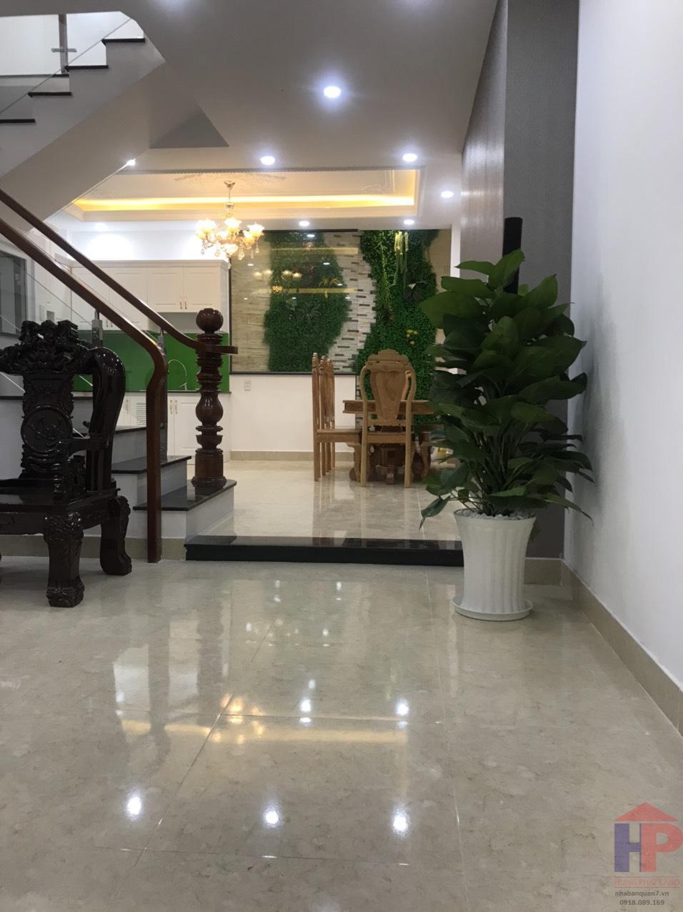 Bán nhà hẻm 1565 Huỳnh Tấn Phát Q7, trệt – lửng – 2 lầu, DT 4.25x12m, giá 6.1 tỷ