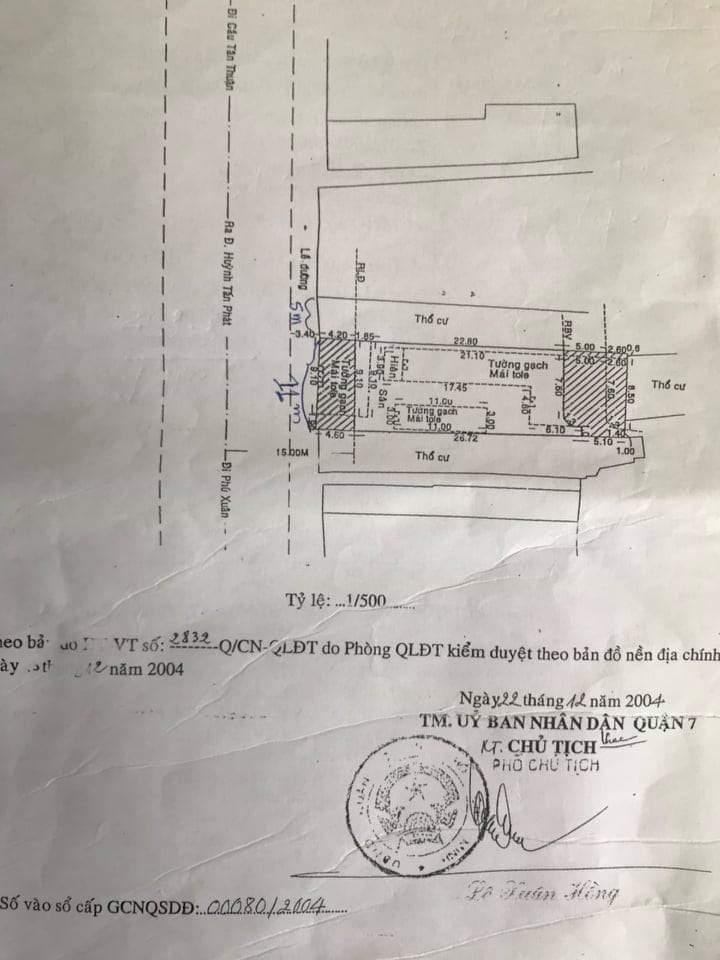 Bán Nhà Mặt Tiền Đường Huỳnh Tấn Phát Quận 7 Giá Rẻ