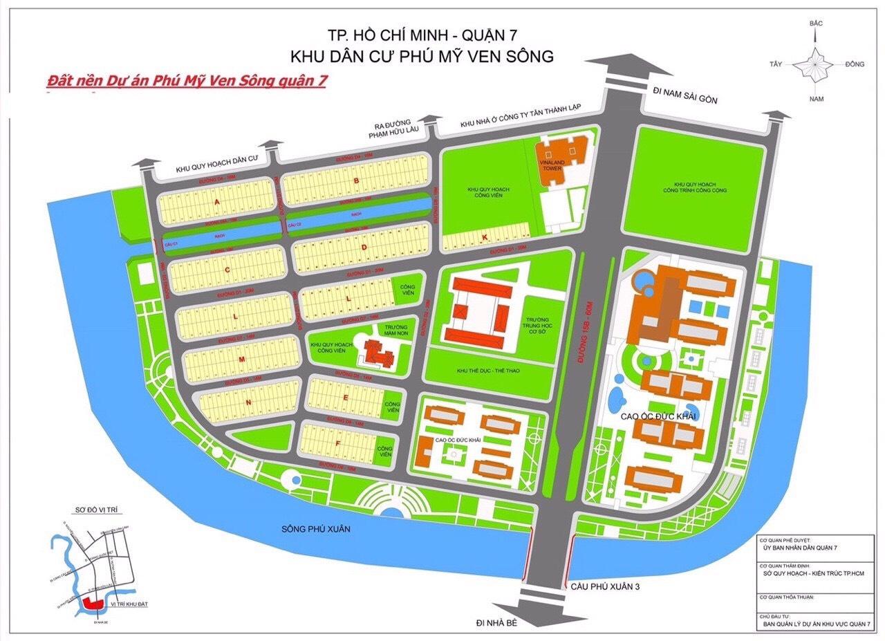 Bán đất khu dân cư phú mỹ phường phú mỹ quận 7 đường D4 rộng 16m dt 5m x 18m lh 0907898478