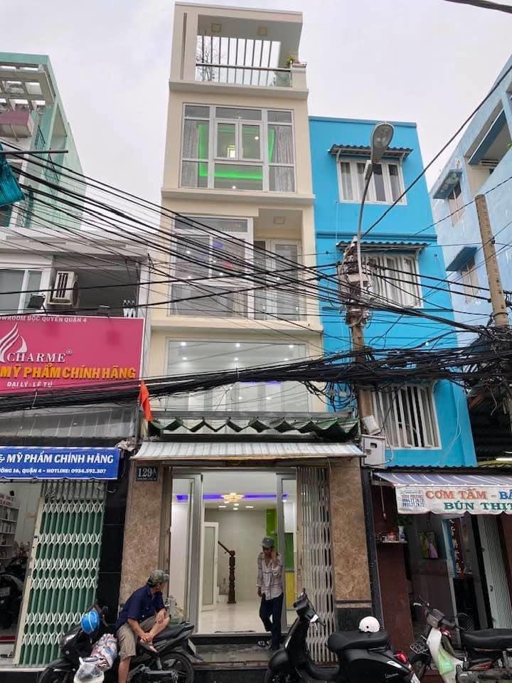 Bán nhà mặt tiền kinh doanh đường xóm chiếu quận 4 27,5m2 1 lửng 3 lầu lh 0907898478