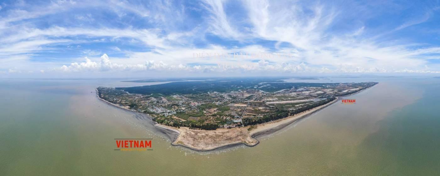 Toàn cảnh khu đô thị lấn biển Cần Giờ trước khi chính thức khởi công xây dựng, dự kiến ngày 23/9/2020