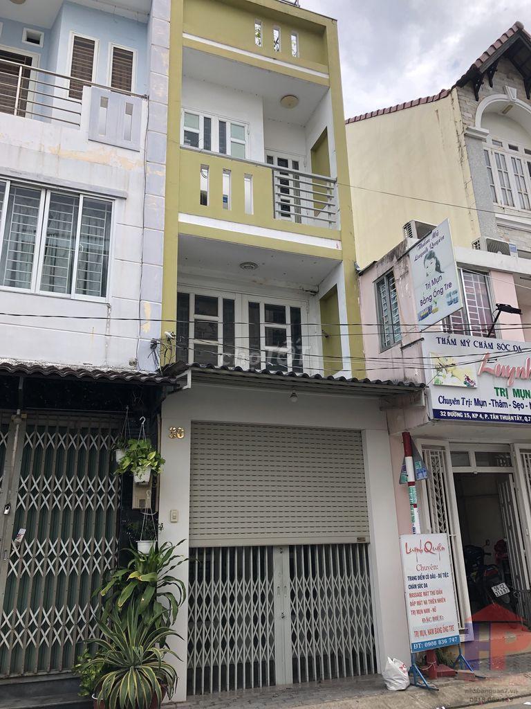 Cho thuê nhà Đường 15, Phường Tân Thuận Tây, Quận 7 DT 3m x 11m Giá 14 tr/tháng LH 0909477288