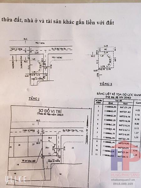 Bán nhà hẻm xe hơi 118 Bùi Văn Ba Quận 7 DT 3,5m x 5m Giá 1.75 tỷ LH 0909477288